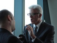 seth leitman, the green living guy interveiwing Ted Danson, actor and Board Member of Oceana