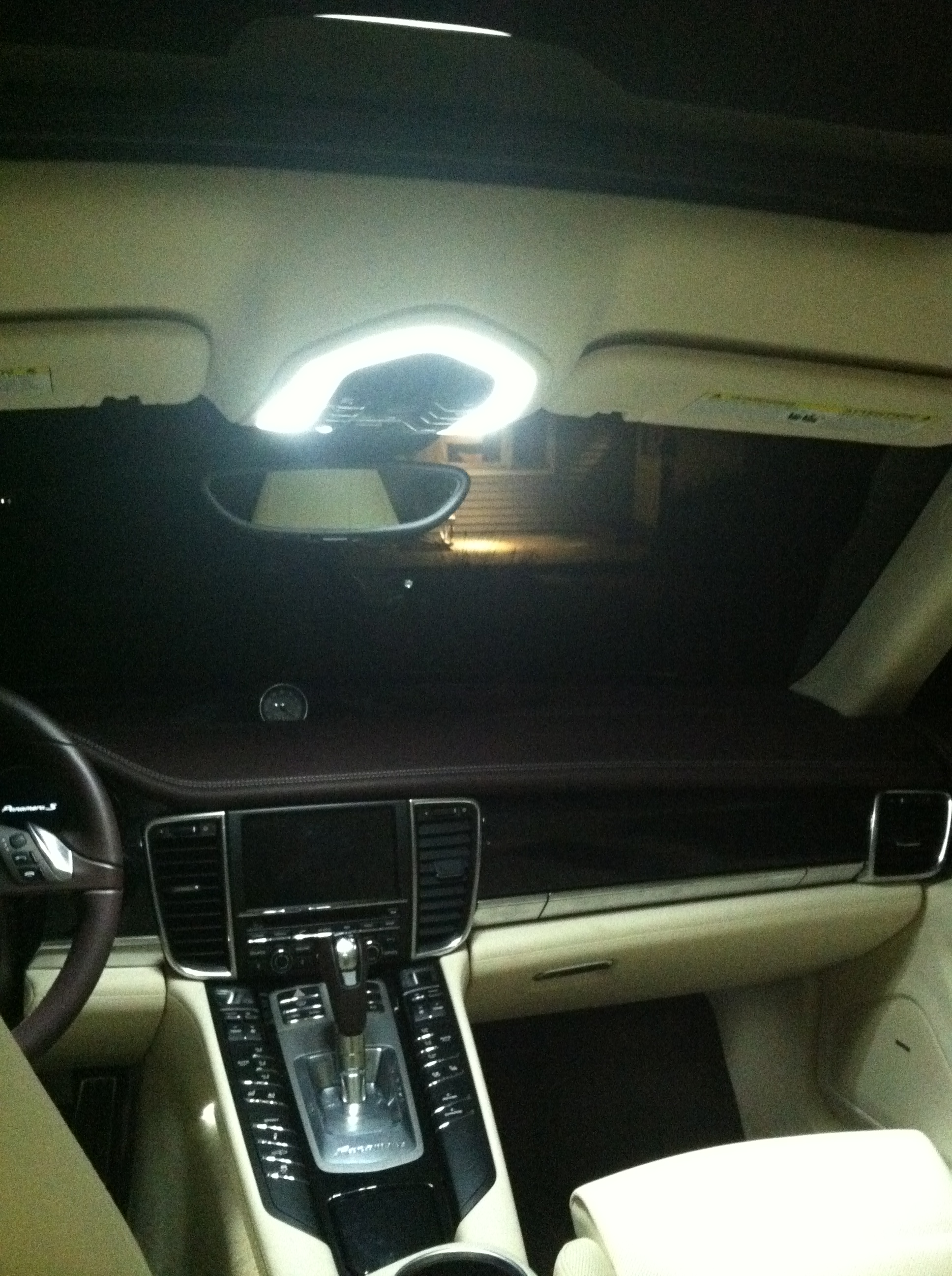 Interior of Porsche Panamera hybrid