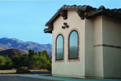 100 Series Springline Specialty Fixed Windows, Cocoa Bean   Spanish Colonial Home Style