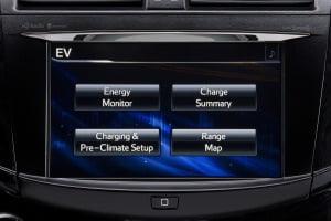 Dashboard Toyota RAV4 EV by Tesla Motors