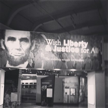 Abraham Lincoln poster at Henry Ford Museum