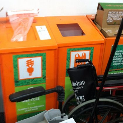 Home Depot does CFL recycling