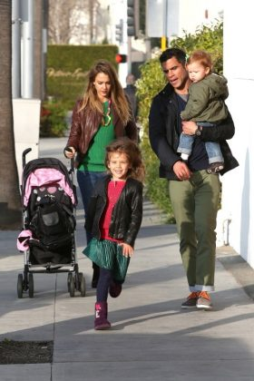 Jessica Alba going green with family every day