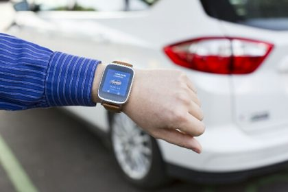 Android watch for female EV and phev drivers of Ford Electrified cars. EV app