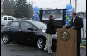 Steve Marsh, a Nissan LEAF owner from the state of Washington in the US, yesterday celebrated 100,000 miles driven in his zero-emission vehicle.  Marsh was one of the first customers to take delivery of a Nissan LEAF in Washington 2 ½ years ago. A financial controller, he made the decision to go electric and buy a LEAF primarily based on the car's low cost of ownership—a benefit that more than 92,000 LEAF drivers around the world are also now enjoying.  Marsh also has a daily commute in the Nissan of Leaf of about 130 miles. For he calculates mileage of the LEAF. For it has saved him more than $9,000 compared to his old gas-powered car. Marsh credits the robust charging network in Washington and the charger installed at his office for his ability to make the long journey each day.