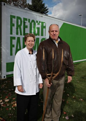 """Is it going to put local farmers out of business? """"No way,"""" says Duprey. Our challenge is that we have not been able to buy enough organic, locally produced greens, particularly in the winter. We'll still be buying plenty of produce and cheeses and meat locally."""""""