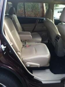 Rear passenger seats 2013 Toyota Highlander Hybrid Limited