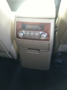 Control sound and air in back seat area on Toyota Highlander Hybrid Limited