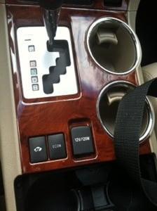 Wood interior on Toyota Highlander hybrid limited 2013