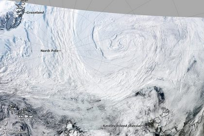 Arctic cyclones. Dr. Stephen Vavrus from the University of Wisconsin-Madison