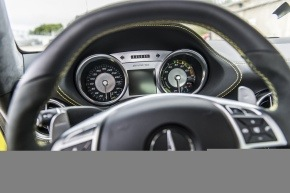 Sitting in the Mercedes AMG electric SLS