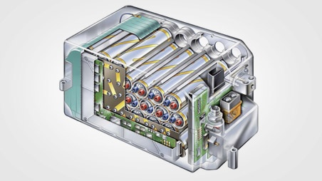 The compact Lithium-Ion battery is a production-car first