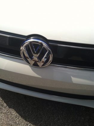 Front end of VW jetta hybrid ev
