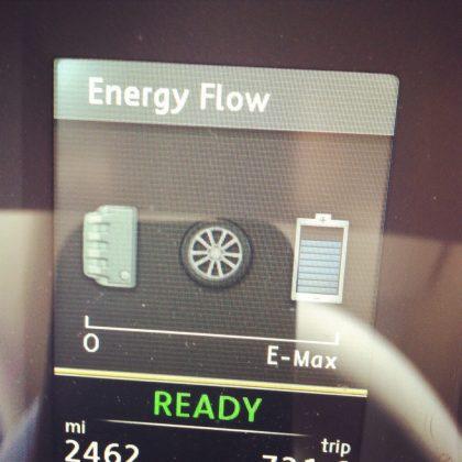 E meter for VW Jetta hybrid ev