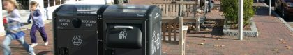 Bigbelly recycling bins in Cities
