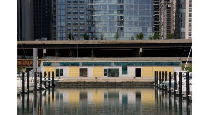 LEED Gold Certified harbor building between Lake Shore Drive and DuSable Harbor on Chicago's urban lakefront