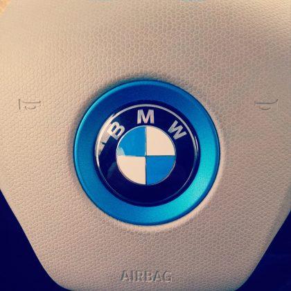 BMW i3 Electric Car steering wheel, BMW Group