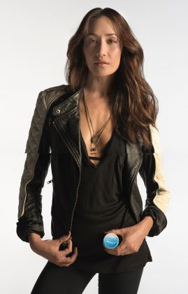 Kiel's and Maggie Q for Recycle Across America