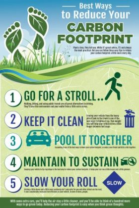 Ways to Reduce your Carbon Footprint with calculator