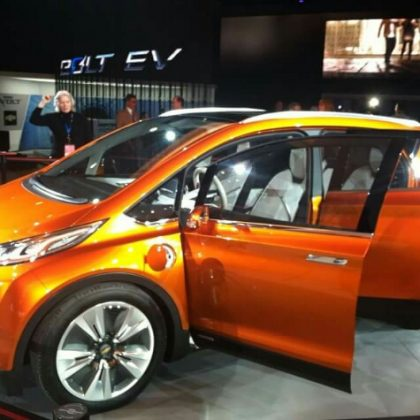 """Chevy Bolt Chevrolet Bolt electric car The Chevy Bolt may well be the most important electric vehicle hitting the market in 2016. It will be the first affordable, fully electric car on the market, and has a generally attractive look. Many buyers will still wait for the Tesla Model 3 (due out ~1 year later), but the Chevy Bolt could dart (well, I guess I could say """"bolt"""") to the top of the sales chart once it arrives. This is what sooooo many people have been waiting for -- long range, an affordable price tag, and the fun and convenience of electric driving."""