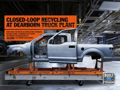 Ford F-150 recycles