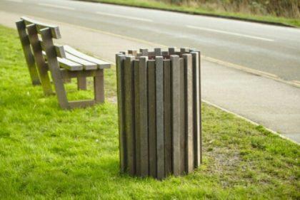 Eco plastic wood benches