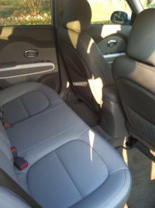 Kia Soul Electric car back seat photos