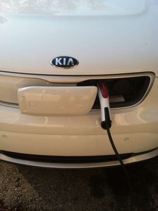 Charger door for Kia Soul EV