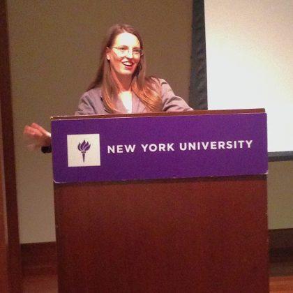 Taryn Hipwell at NYU - R.E.A.L. Speaker Series - Keynote Speaker