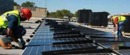 Installing PV solar panels on a green roof