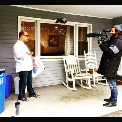 When I was talking about recycling pizza boxes for my TV segment with NYC Media