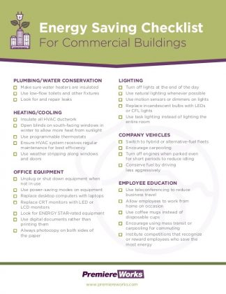 Commercial building energy efficiency checklist