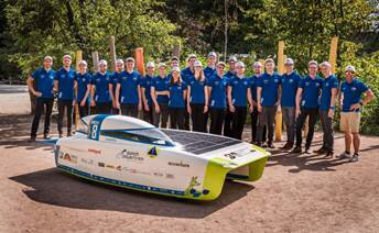 """Powered only by solar energy, the 32 competing teams will race from Darwin to Adelaide, over the course of five days. Both teams are receiving both the material, para-aramid Twaron®, and technical support from Teijin Aramid. In particular, the University of Michigan team is using Twaron to reinforce the undercarriage of the car, choosing this material for its high abrasion resistance and high strength-to-weight ratio. Sarah Zoellick, from the University of Michigan team: """"We're very grateful to Teijin Aramid for generously supporting our needs, and helping us to meet the design deadlines at short notice."""""""