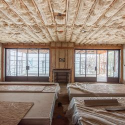 Wool insulation in the attic