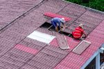 Re roofing for a solar panel installation