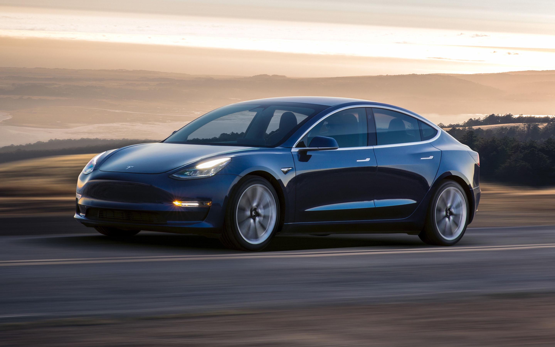 Tesla Model 3 Electric Car, Vehicle
