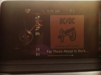 Bmw 328d test Drive listening to acdc