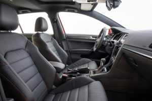 The 2018 Golf GTI is available in three trims—S, SE and Autobahn. All models now come with 220 horsepower standard (achieved with premium fuel), a 10-horsepower increase, larger touchscreen infotainment displays and LED Daytime Running Lights. These and taillights both are LED. Can you say standard on SE and Autobahn trims.