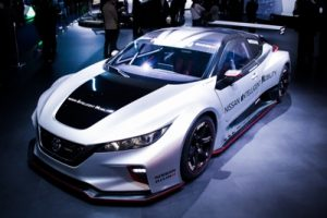 LAS VEGAS CES 2019 – The all-new Nissan LEAF NISMO RC, an electric race car with more than double the maximum power and torque output of its predecessor, made its North American debut at Nissan's CES display in Las Vegas.  Nissan Crossing in Tokyo, was developed by Nissan's racing arm, NISMO. Therefore, using its racing know-how.  So NISMO created an exciting way to show the potential of Nissan's zero-emission technology. Which is still a key component of the Nissan Intelligent Mobility vision.