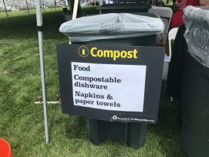 Compost station at pleasantville music festival