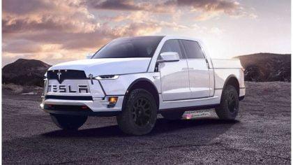 Tesla Model P pickup truck