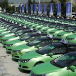 Xi'an Electric taxis