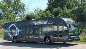 2 nova bus electric buses, Nova Bus LFSe