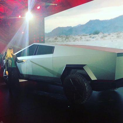 Tiffani Van Ee at Tesla Cybertruck unveiling at SpaceX