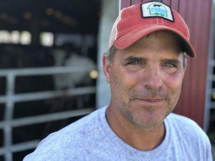 Peter Melnik, a fourth-generation dairy farmer, owns Bar-Way Farm, Inc. in Deerfield, Mass. He has an anaerobic digester on his farm that converts food waste into renewable energy. Allison Aubrey/NPR